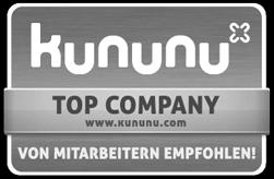 Kununu Open Company Siegel - Von Mitarbeitern empfohlen!